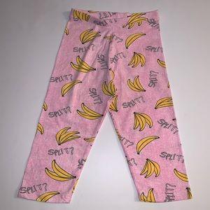 """Zara Girls Pink """"Banana Split?"""" Capri Pant Size:10"""